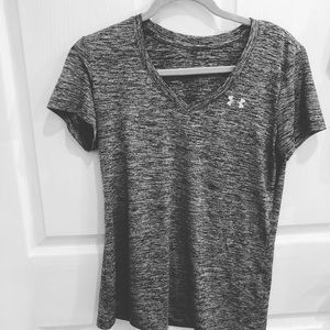 under armour v neck tee, athletic material